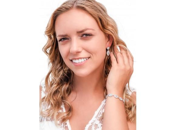 Minimalistische Armband & Oorbellen Sieradenset Voor De Bruid