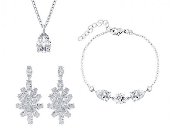 Sieradenset voor bruiloft zilver