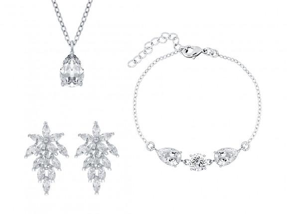 Sieraden voor bruid zilver