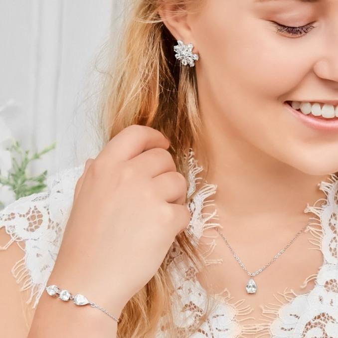 Mooie set voor de bruid om te dragen voor een trendy mix