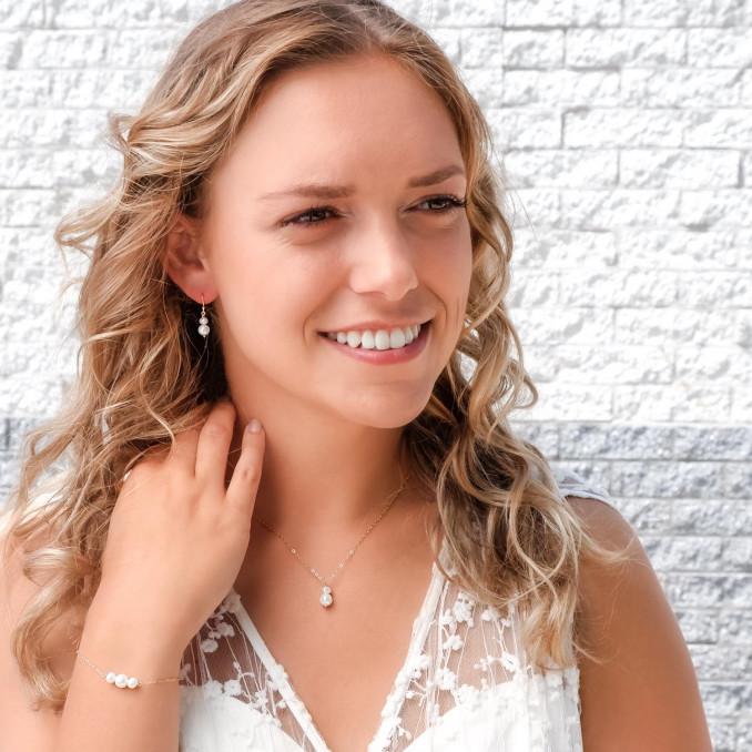Mooie armband met parel sieraden voor de bruid