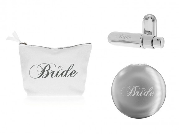 DRKS Cadeauset Voor De Bruid Met Toilettas, Parfumverstuiver en Spiegeltje