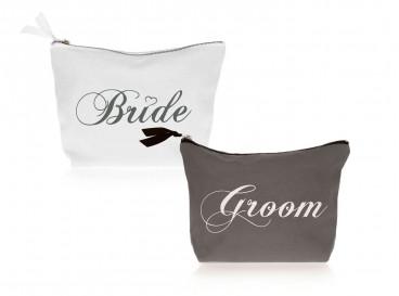 DRKS Bride & Groom Toilettassen voor bruid en bruidegom