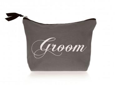 Grijze Groom Toilettas van DRKS voor de bruidegom