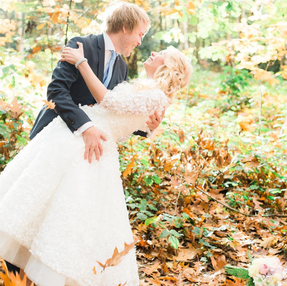 bruidspaar shoot in het bos
