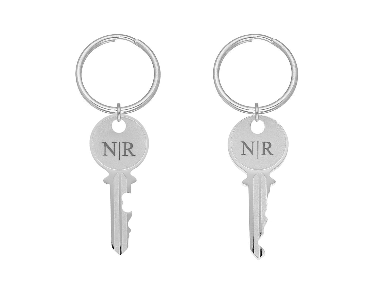 Sleutelhanger sleutels met personalisering