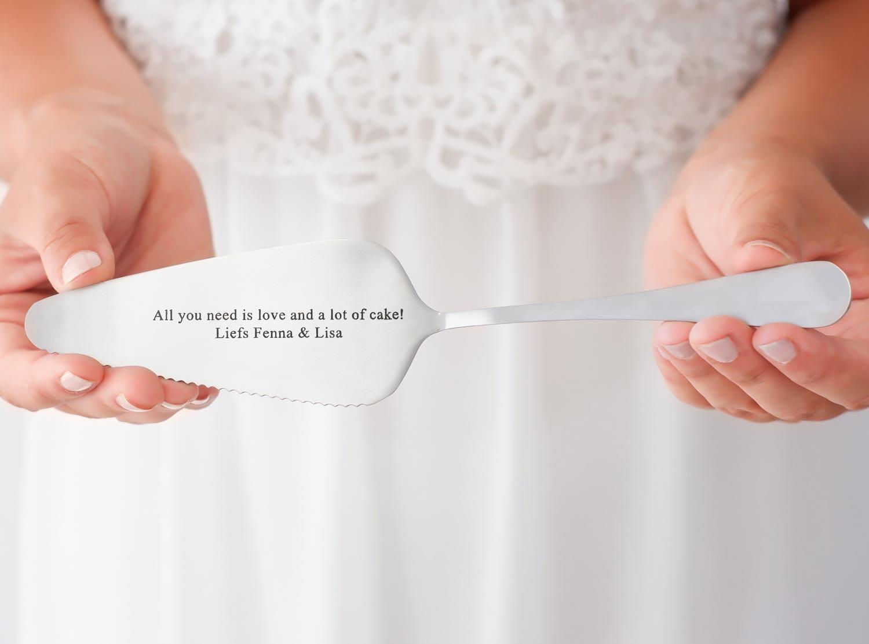 Mooie taartschep voor de bruid om te kopen