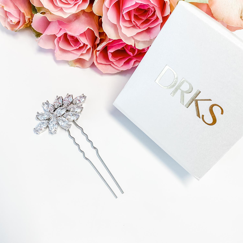 Haarpin voor de bruid met rozen