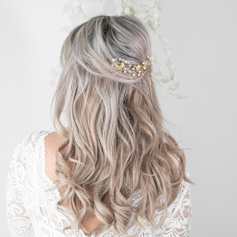 Haarjuweel voor de bruid voor in het haar om te verwerken