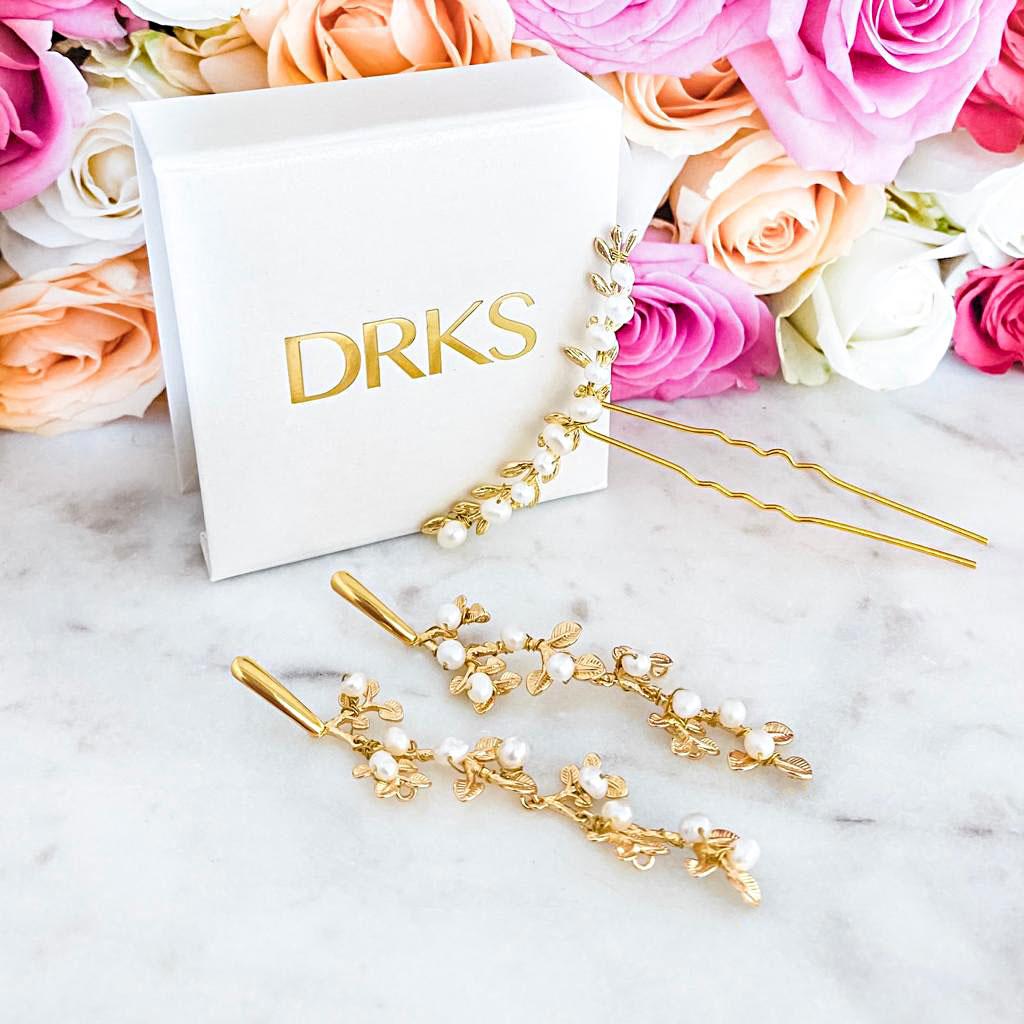 Mooie gouden look voor de bruid om te kopen