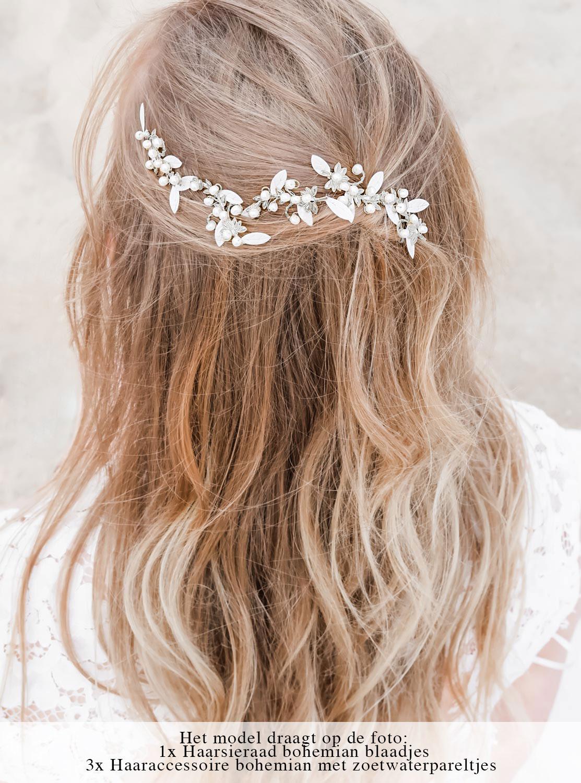 Haaraccessoires voor de bruid om te dragen in het haar
