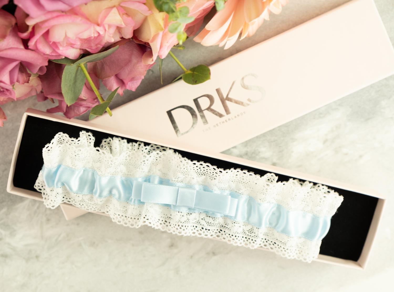 Kousenband voor de bruid blauw