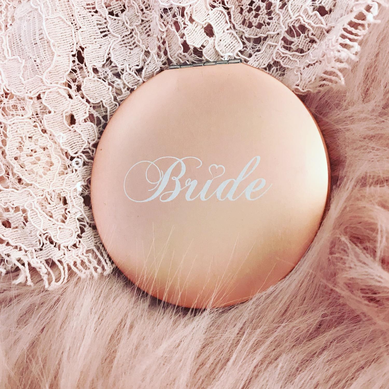 Rose gouden handspiegeltje voor bruidjes