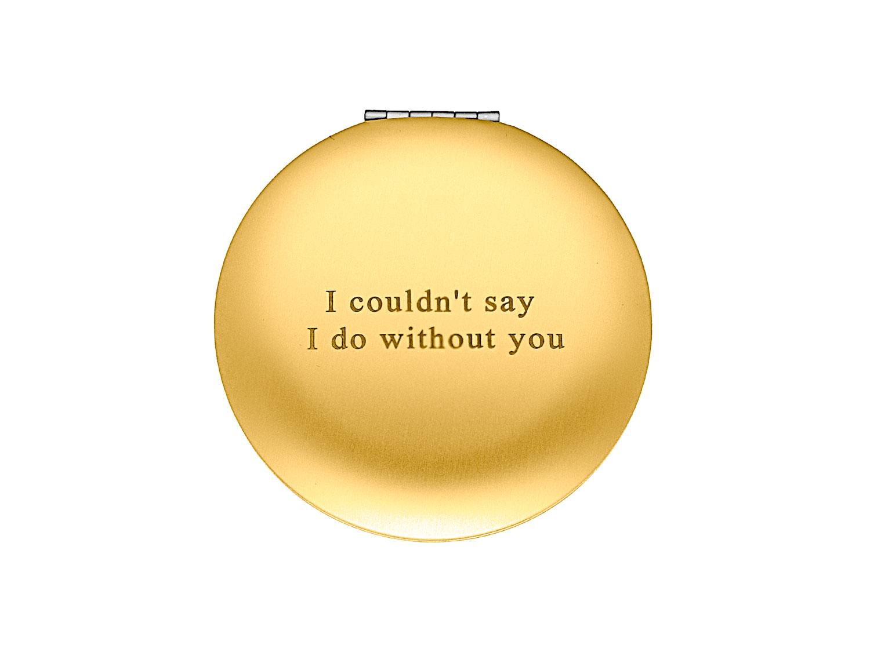 Goud graveerbaar spiegeltje in doosje