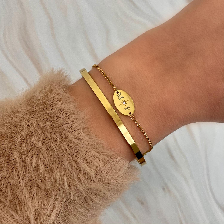 Mooie set met armbanden voor een trendy look