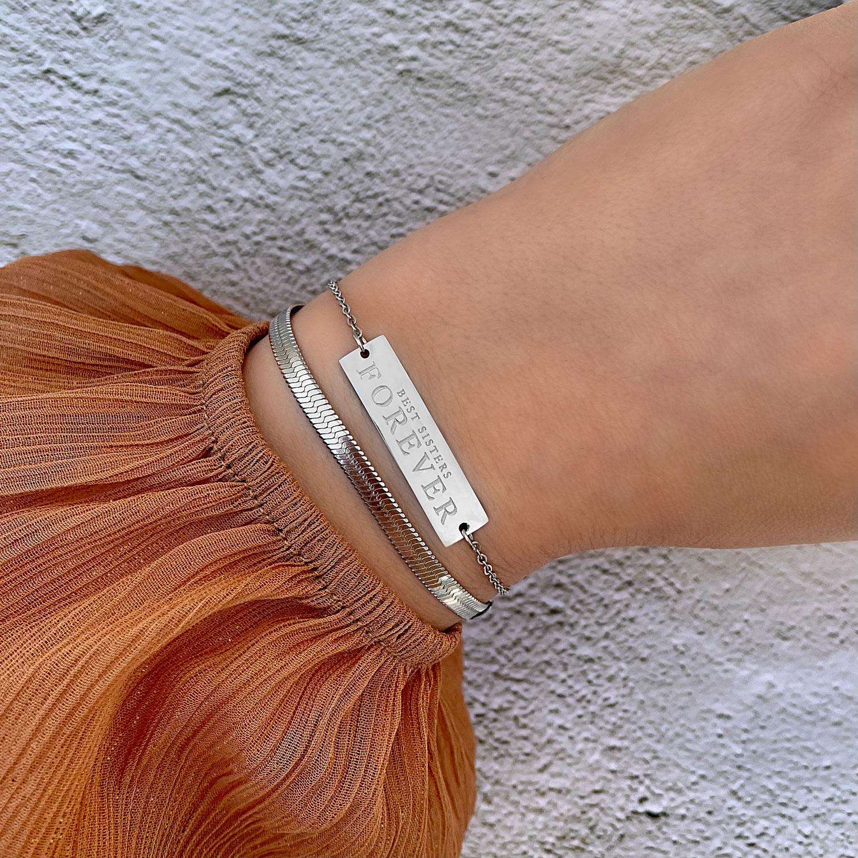 Trendy zussen armband voor een mooie look