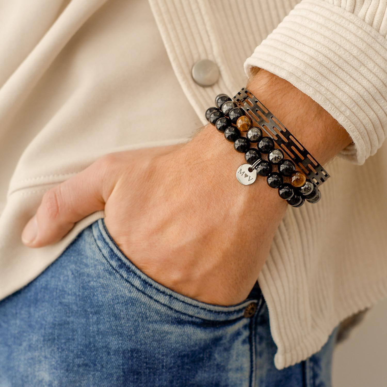 Stoere stalen armband voor hem om te dragen