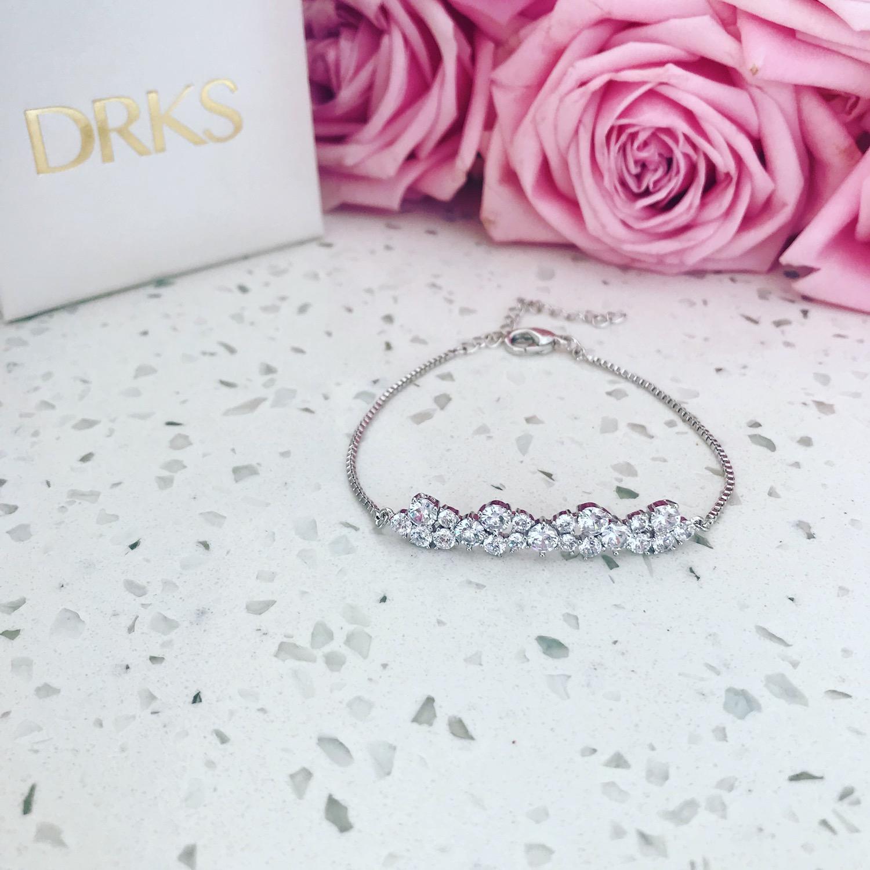 Sparkle armband met rozen en sieradendoosje