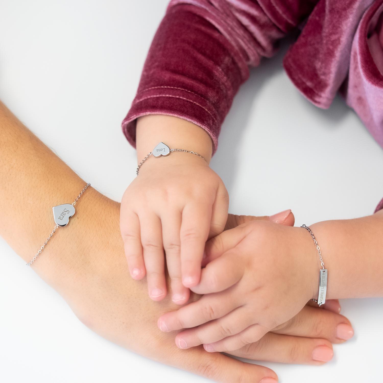 Leuke moeder en dochter armband voor kindjes