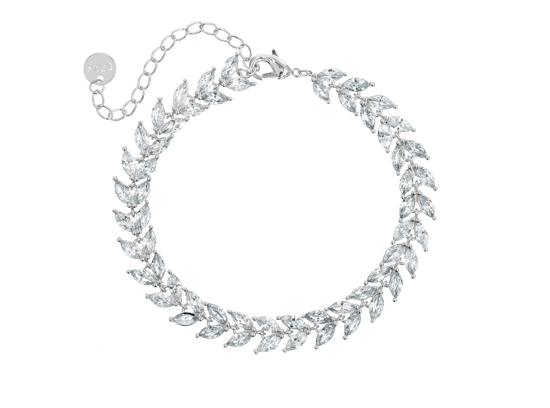 Armband voor de bruid met steentjes