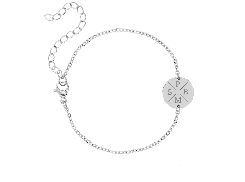 Vier initialen armband