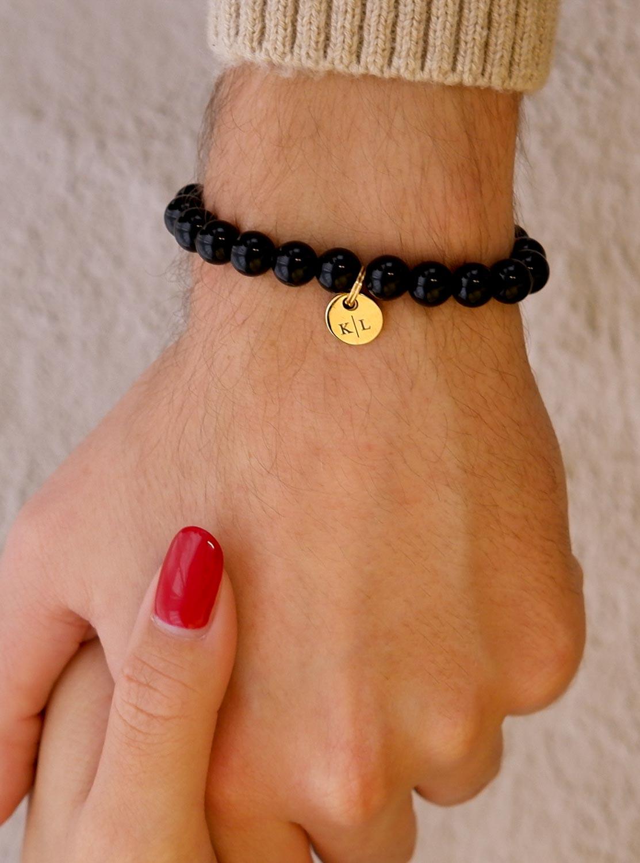Stoere mannen armband met naam voor jouw vriend
