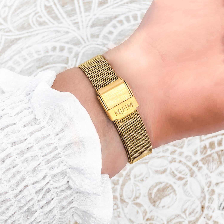Gouden horloge met initialen kopen