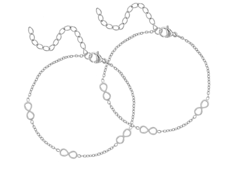 Moeder & Dochter Armband Infinity Zilver