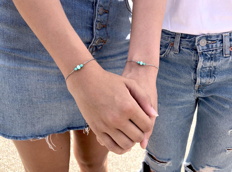 Moeder & Dochter armband Amber