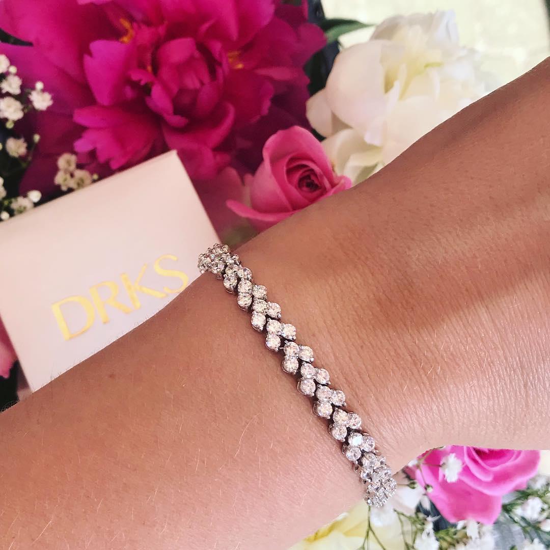 zilveren kristallen armband van drks