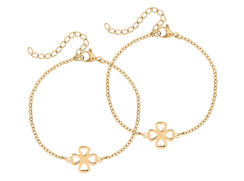 Gouden clover armband om een speciale band tussen moeder en dochter te vieren