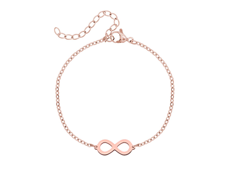 DRKS infinity armband in het rose goud