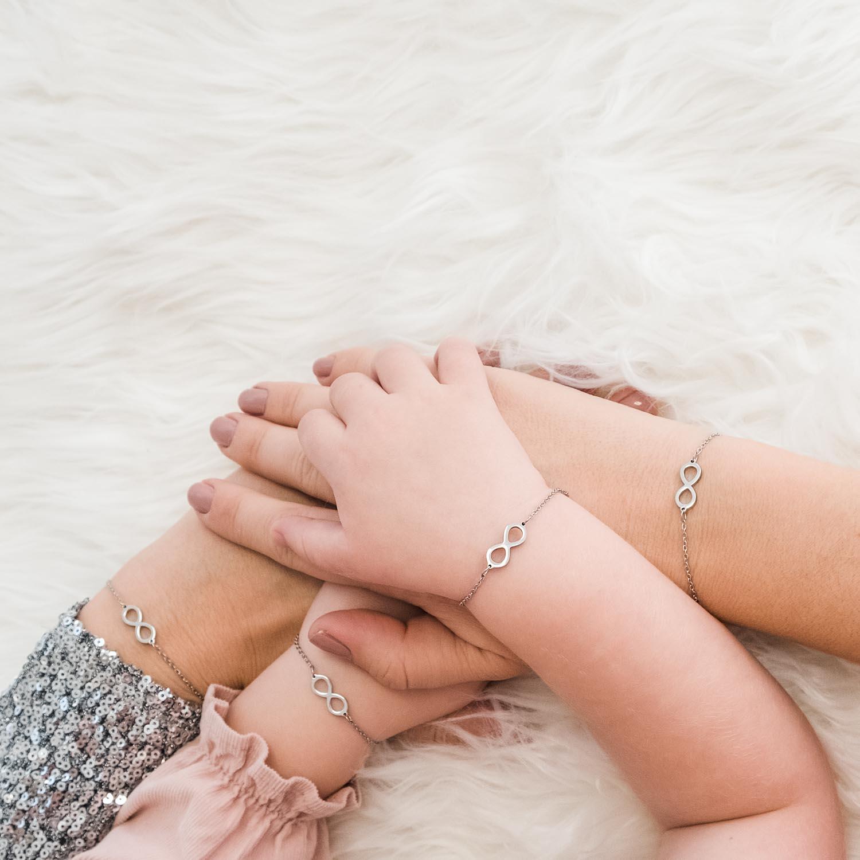 Zilveren armband om te delen met jouw moeder en dochter