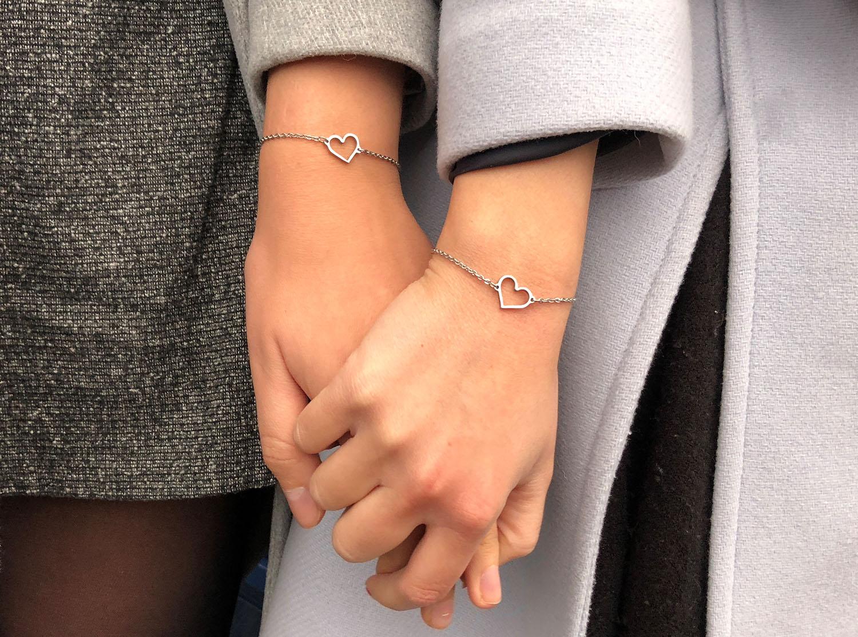 Moeder en dochter armband voor om samen te delen