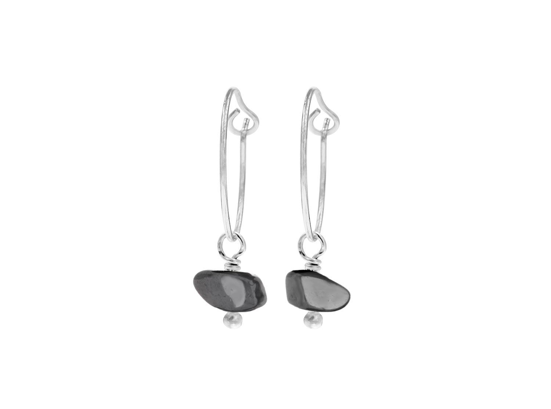 Minimalistische Oorbellen Zilver : Oorringetjes kopen zilveren oorringetjes met hematiet drks