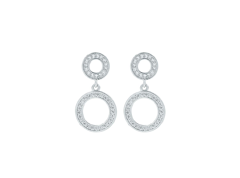 Ronde minimalistische bruids oorbellen