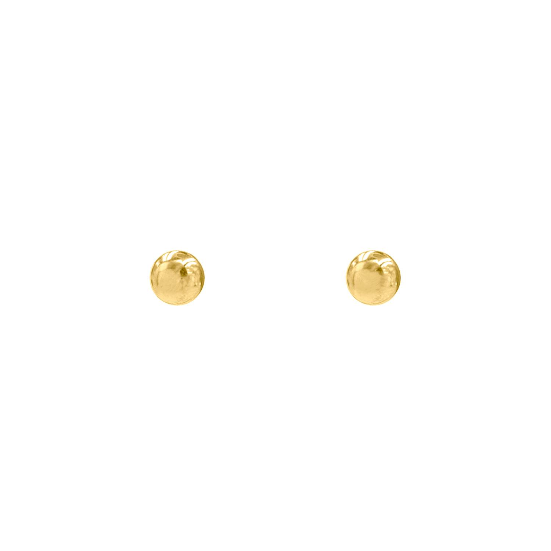 Bolletjes stud oorbellen kleur goud