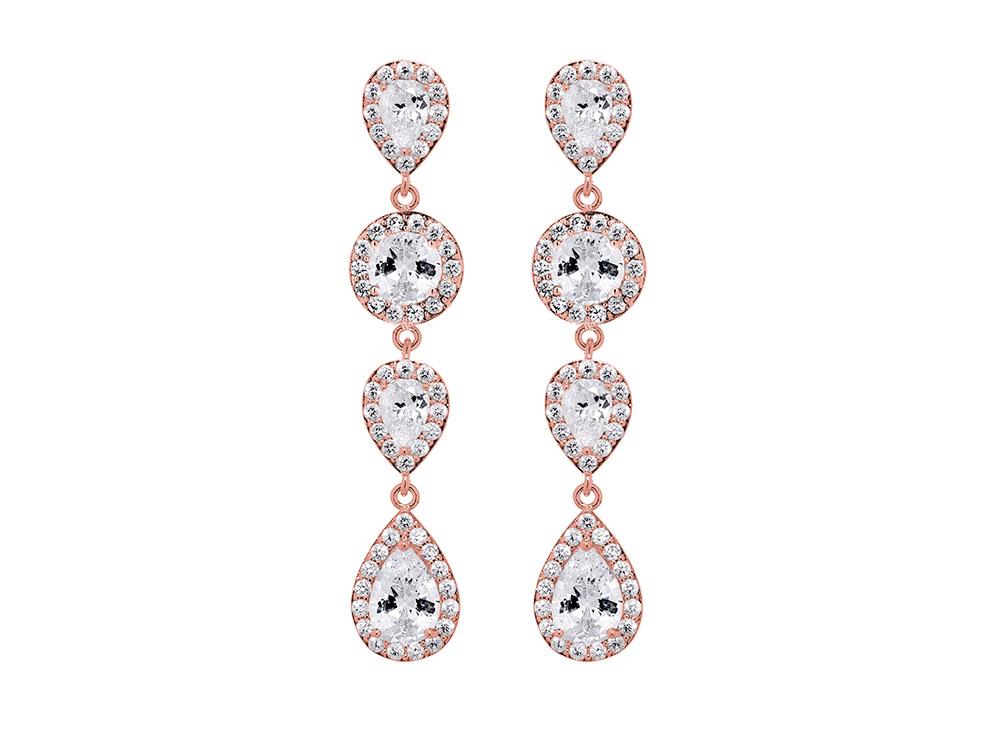 Daily Luxury Oorbellen XI Rose Goud Kleurig