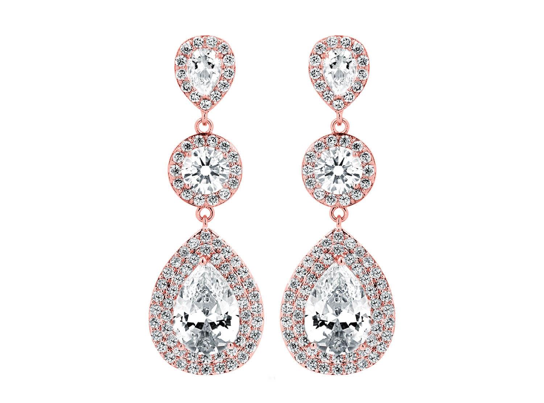 Daily Luxury Oorbellen V Rose Goud Kleurig
