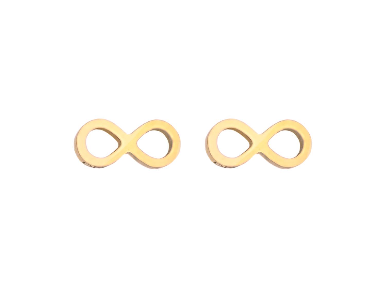 Oorbellen infinity teken Goud
