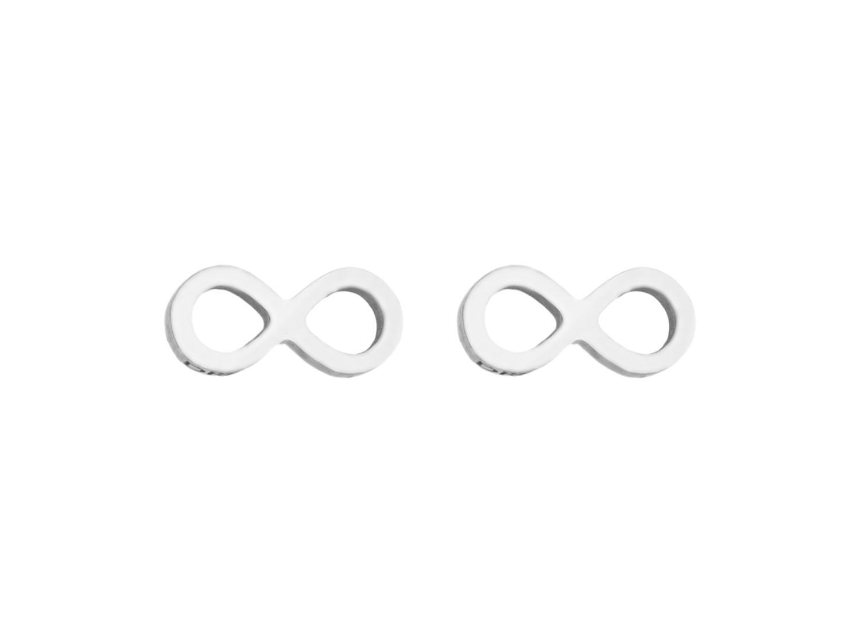 Oorbellen infinity teken zilver