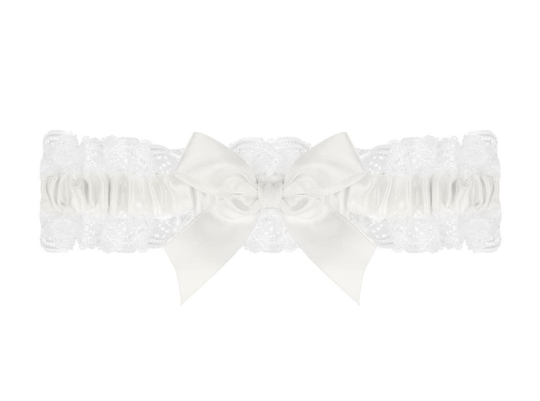 Luxe kousenband met strik voor bruiden van DRKS