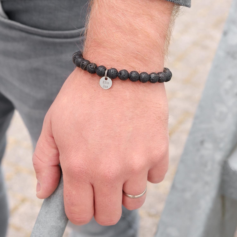 Stoere armband met kralen voor de mannen om te kopen