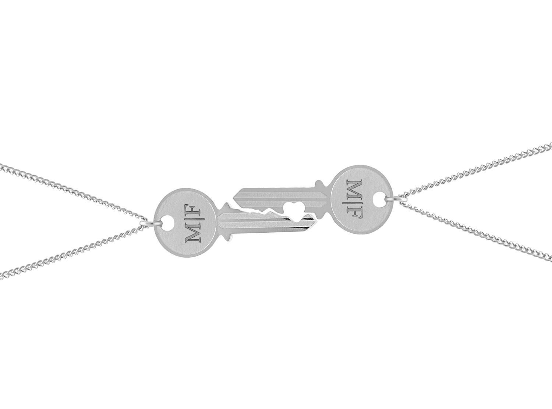 Gegraveerde Sleutelketting voor koppels