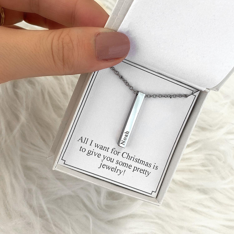 Ketting met sieradendoosje met een persoonlijke tekst