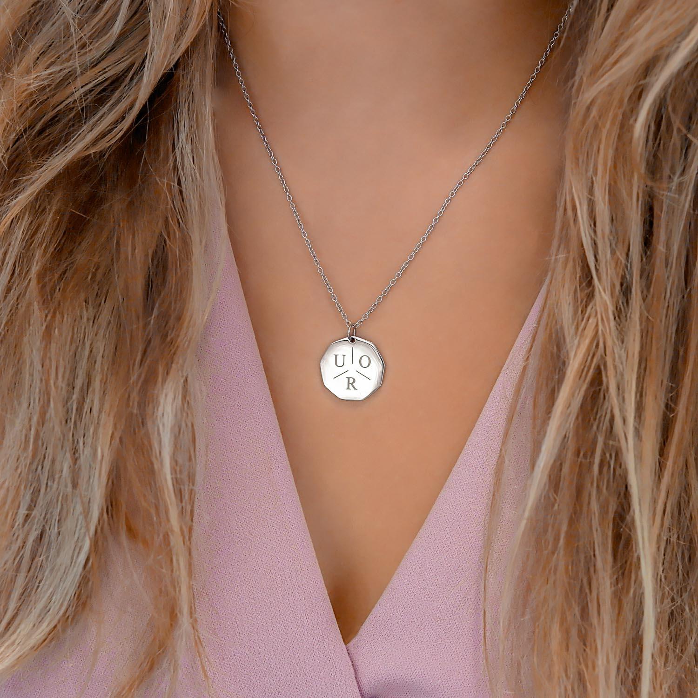 Zilveren ketting met een bow voor een trendy look