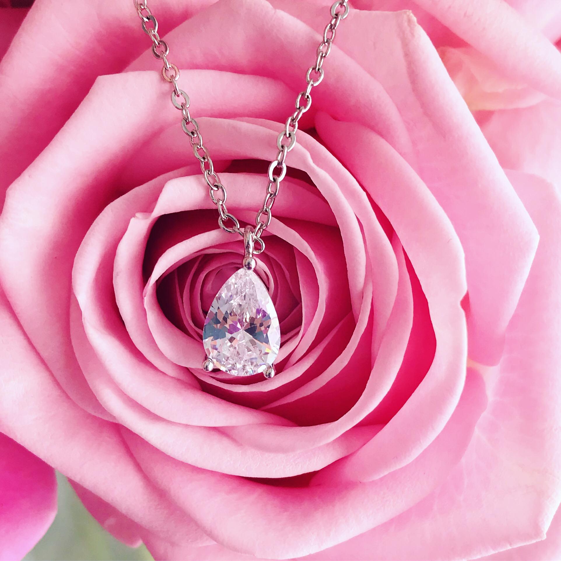 Daily luxury ketting bij roze roos