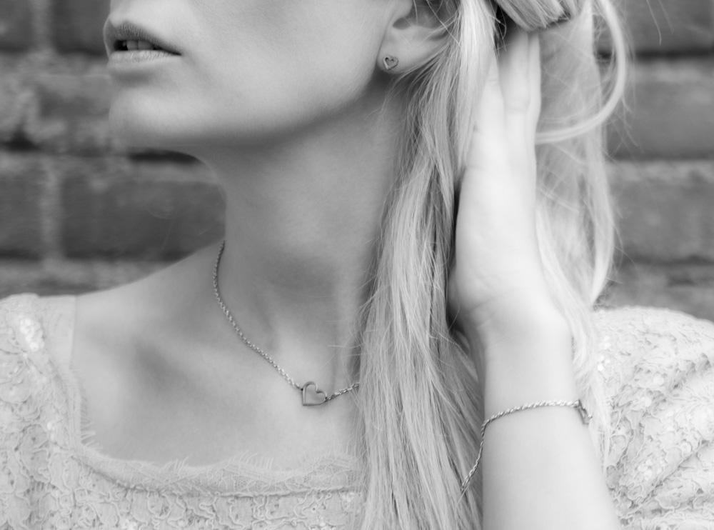 Zilveren casual sieraden met hartje