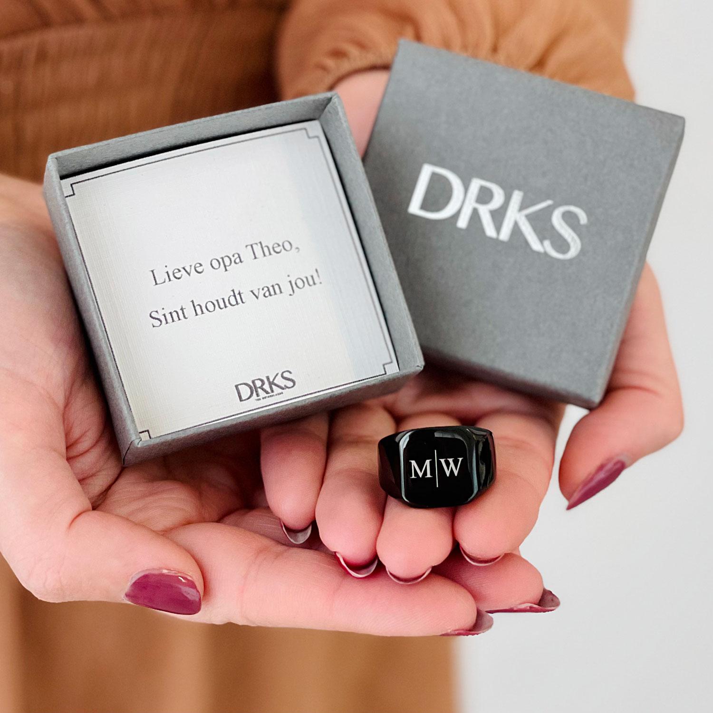 Ring cadeau geven aan jouw vriend met persoonlijke tekst