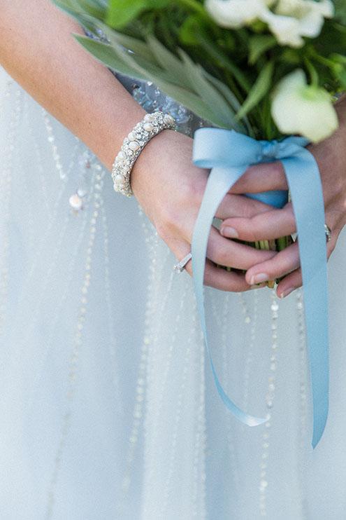 armband met blauwe details